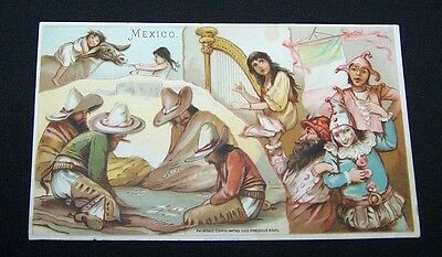 1893 Trade Card-#30 Arbuckle Coffee-Mexico-Sports Pastime Series-Games