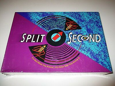 Split Second Parker Bros Trivia Board Game New Factory SEALED