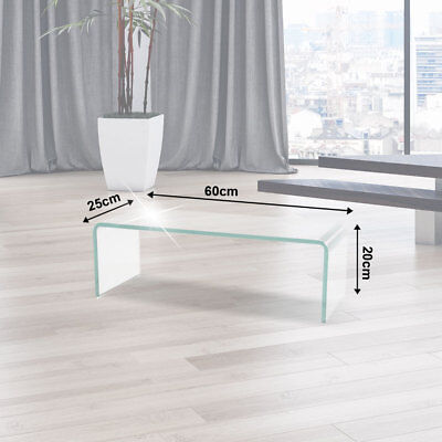 TV Table Monitor Attachment TV Shelf curved Glass table high-gloss polished NEW