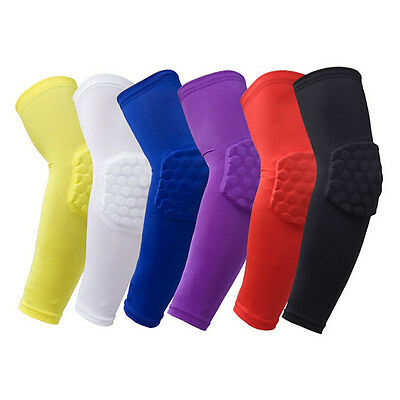 Crashproof Honeycomb Pad Basketball Football Shooting Arm Sleeve Elbow Support T