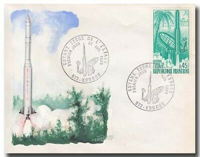 Ariane launch cover with handdrawn vanWaay cachet - striking - 2f217