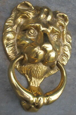 Brass Lion Door Knocker, Excellent.