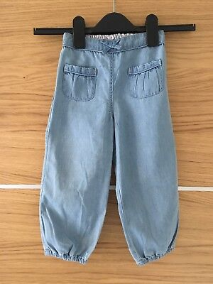 The Little White Company Girls Denim Trousers 18-24 Months