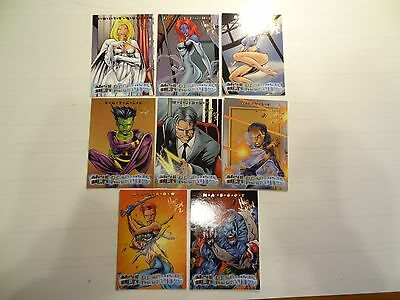 1997 Marvel X-Men New Recruits Chase Cards! Complete set! Gold Foil Signature!