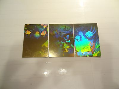 1992 Impel Marvel Gold Holo Chase Cards!!! XH1+XH2+XH5!!! LOOK!!!