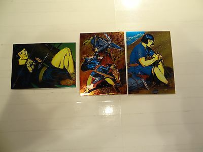 1995 Prince Valiant Chrome Chase Cards!! #'s C1+C3+C5!!! LOOK!! Comic Images!!!