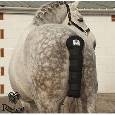 Rhinegold Cotton Quilted Tailguard – Navy – show season **FREE P&P**