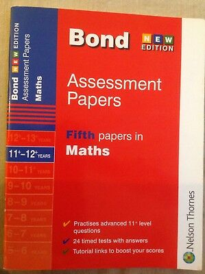 Bond 11+ Maths assessment papers book 11+-12+ part used pencil