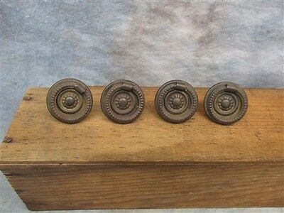 4 Vintage Decorative Drawer Pulls Cupboard Handles Knobs Bullseye Furniture