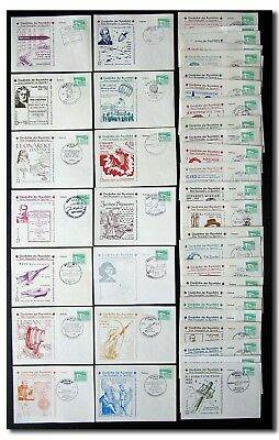 History of spaceflight - complete collection of philatelic cards 1-50 - 2f36
