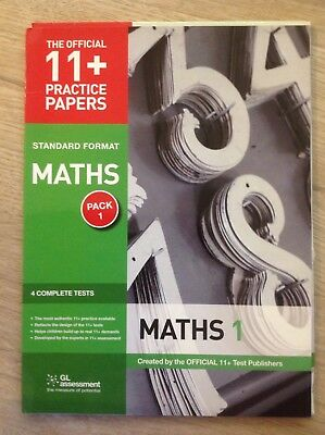 GL assessment 11+ Maths 4 official tests pack 1 used in pencil and fully erased