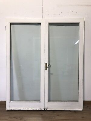 Glazed wooden exterior door with frame picclick uk for Large glass french doors