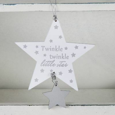 Baby Sentiment Hanging Plaque Twinkle Twinkle Little Star