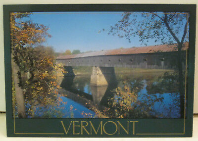 Windsor Vermont Longest Covered Bridge in the United States Postcard