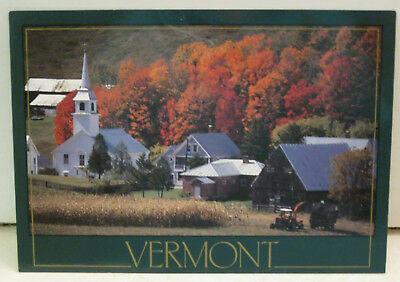 Autumn Vermont Farming Community Vermont Postcard
