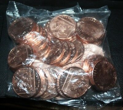 Sealed Bag of 50 Uncirculated UK 2016 2p Coins