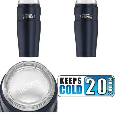 Thermos Stainless King 20 Oz Travel Tumbler With 360 Degree Drink Lid Midnight