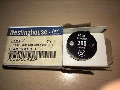 Westinghouse 4LC200 200 Amp Rating Plug for Type LC 400 Amp Frame, New in box