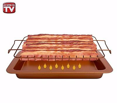 Bacon Bonanza by Gotham Steel Oven Healthier Bacon Drip Rack Tray with Pan - NEW