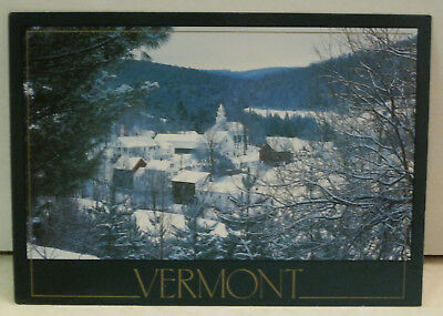 Snow Covers The Village Vermont Postcard