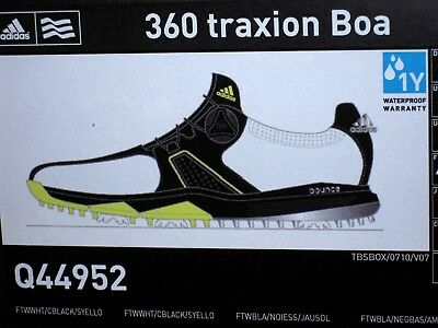 official photos adde0 cb715 Adidas 360 Traxion Boa Mens Golf Shoes ~Style Q44952 ~BRAND NEW IN BOX