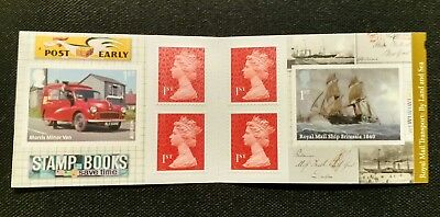 2013 PM40 Transport by Land and Sea Cylinder W1 Booklet 6 x 1st