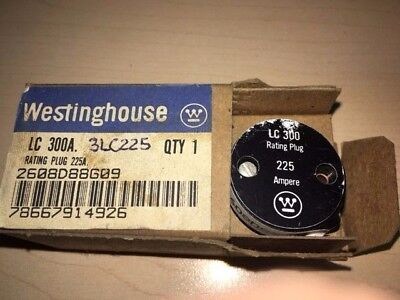 Westinghouse 3LC225 225 Amp Rating Plug for Type LC 300 Amp Frame, New in box