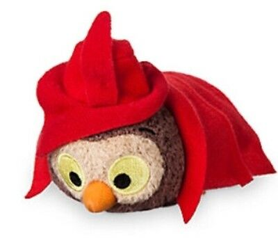 DISNEY STORE SLEEPING BEAUTY'S OWL MINI MINI Tsum Limited Edition WITH ALL TAGS