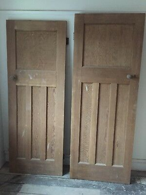 Reclaimed solid wood 1930s one over three panel doors