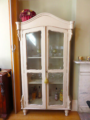 French antique glass fronted display cabinet