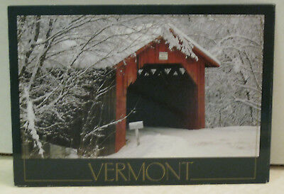 Snow Covered Bridge Are Welcome in Winter in Vermont Postcard