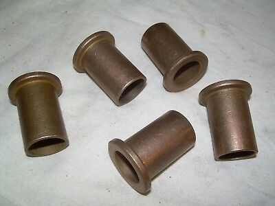 "BRASS FLANGED BUSHING BEARING  5/8"" ID  3/4"" OD  1-1/4"" LONG   LOT OF (5pcs) NEW"