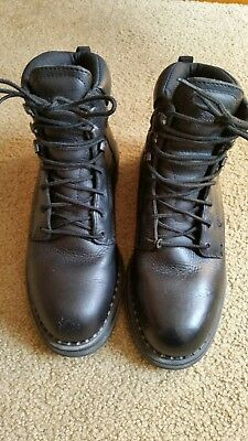 Men's, Red Wings,Black Leather, Steel Toe Boots, Size 8, USA