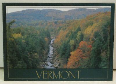 Autumn View Foliage Quechee Gorge Vermont Postcard