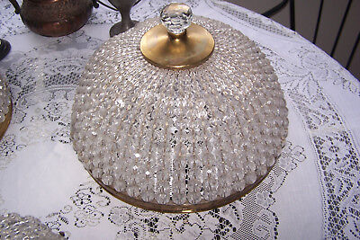 Vintage Large Beaded Crystal Dome