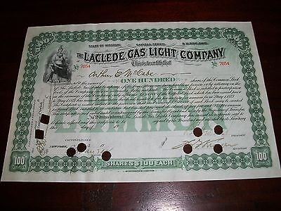 LaClede Gas Light Company Stock Certificate Scripophily