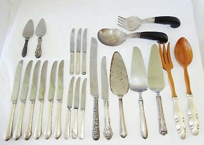 23x US Sterling Silver Mixed Flatware Lot by various makers (Yir)