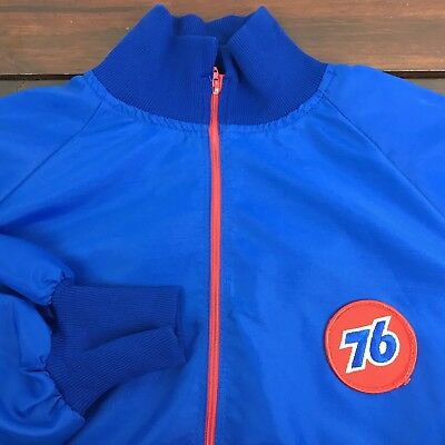 Vintage Union 76 Gas Station Light Weight 1/4 Zip Pullover Jacket  SZ Large