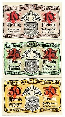 **Undated BERNSTADT German Banknote- ANGELS ~ Complete JUDAICA Notgeld Set RARE