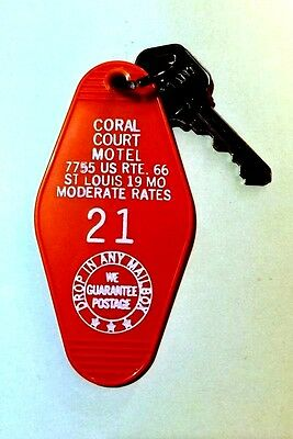 Historic CORAL COURT MOTEL Key Fob  Room #21  St Louis MO Route 66