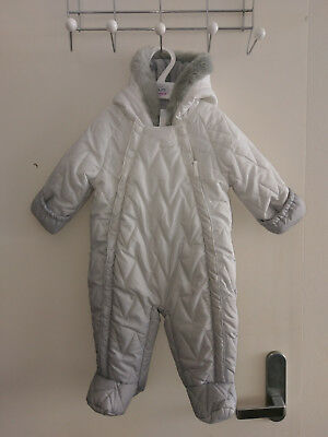Marks and Spencer Long Sleeve Dip Dye Snowsuit 3-6 months