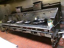 5 burner wok Stainless Steel Stove range restaurant equipment commercial Heavy d