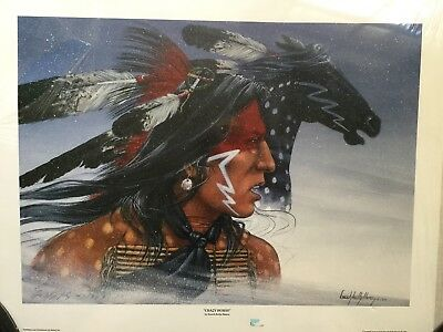 Enoch Kelly Haney Limited Edition Signed And Numbered Print/ Seminole/ Creek1994