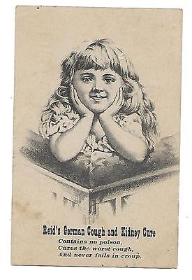 Reid's German Cough & Kidney Cure Late 1800's Medicine Victorian Trade Card