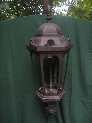Fantastic Large Antique Bronze Wall Sconce Lantern from a Bank in New York City