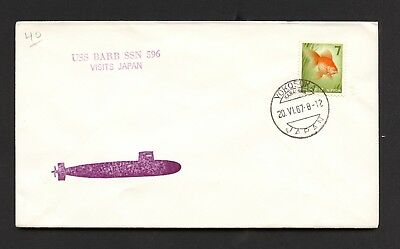 USS BARB SSN-596 - 1st VISIT TO JAPAN - JAPANESE FRANKING