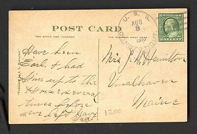 Uss Connecticut Bb-18 - Ppc Of Commercial St - Provincetown Ma- 1910 - Classic
