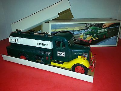 First Hess Truck Toy Bank 1980 NEW! Lights Up