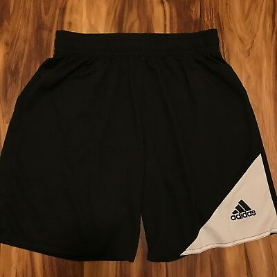 ADIDAS Men's Size M Athletic CLIMALITE FITNESS SOCCER Black Shorts