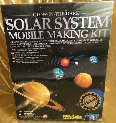 4M Glow-in-the-Dark Solar System Mobile Making Kit, Brand new sealed.